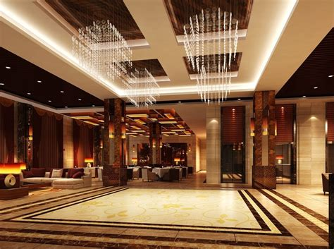 hotels interior hotel lobby lighting marble ceramic 3d design download