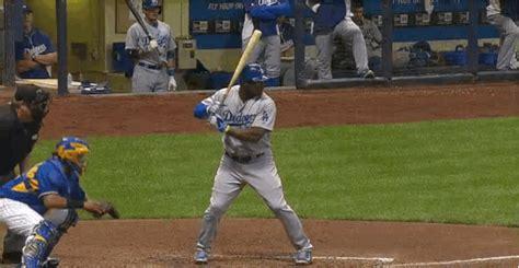 check swing broken bat puig breaks his bat with no contact sports