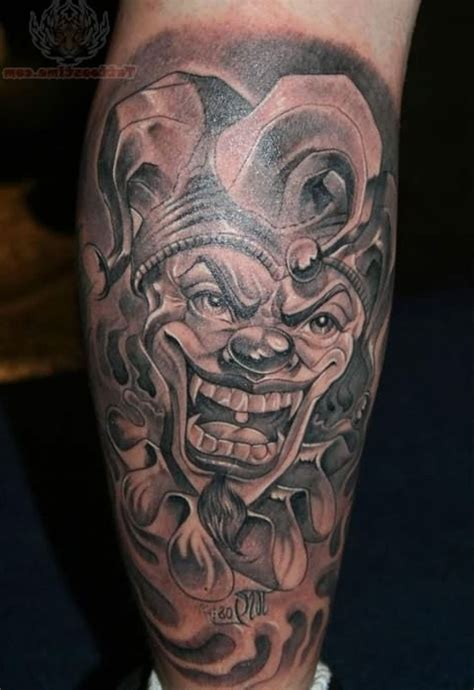 batman head tattoo 22 nice joker tattoos on leg