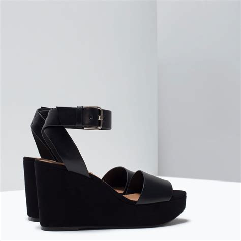 zara buckled ankle wedges buckled ankle wedges