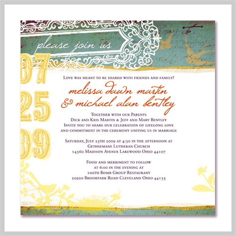 wedding invitation cards words exles birth announcement cards template free