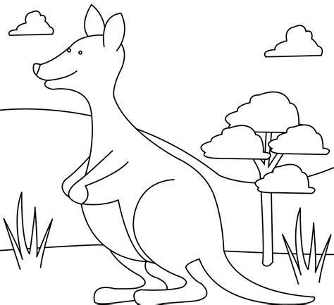 kangaroo coloring pages pdf kangaroo coloring page tree kangaroo coloring page