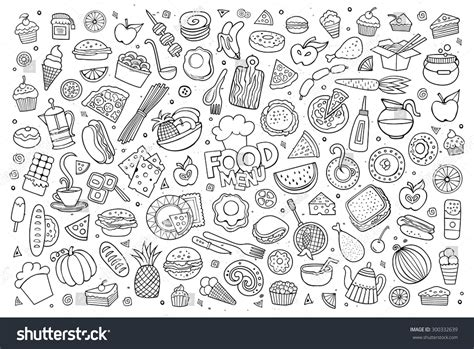 doodle food eps foods doodles sketchy vector stock vector