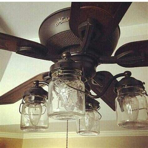 mason jar light kit  ceiling fan  vintage pints