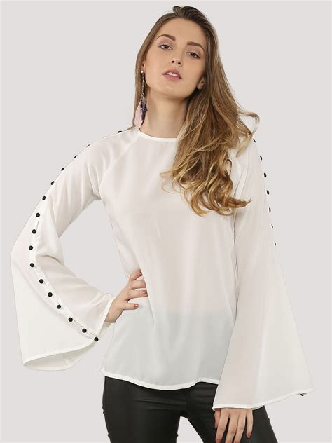 Bell Sleeve Top trendy summer bell sleeve top designers collection