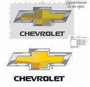 Chevrolet Car Logo Free Cross Stitch Pattern