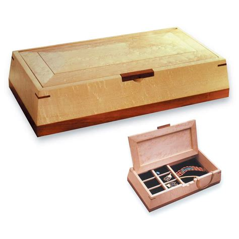 woodworking plans for jewelry box beveled jewelry box woodworking plan from wood magazine