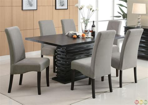 Formal Dining Room Furniture by Stanton Semi Formal Gray 7 Dining Room Furniture Set