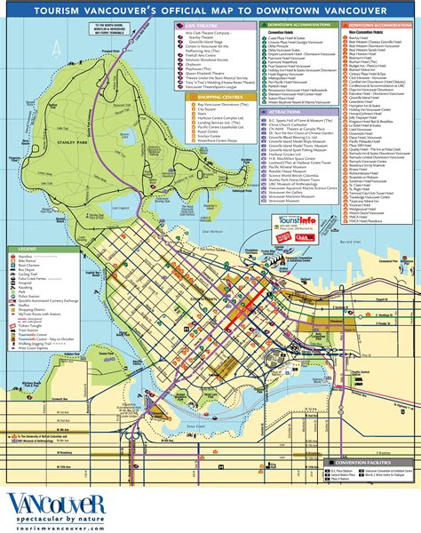 tourist map of canada vancouver tourist attractions map