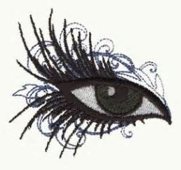 embroidery design eyes make up eye free machine embroidery design embroidery