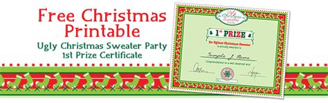 printable ugly sweater certificate no download free printable sweater certificate
