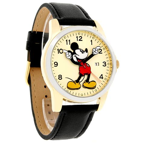disney mickey mouse mens motion two tone black