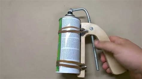 spray painting mechanism home made wooden spray can gun handle