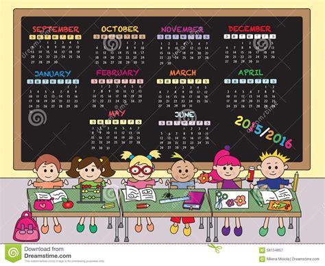 Calendario De La Escuela Calendario 2015 De La Escuela 2016 Stock De Ilustraci 243 N