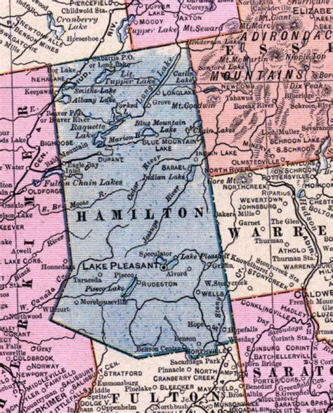 hamilton county section 8 1902 map of hamilton county ny