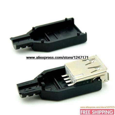 Soket Socket Usb Type A usb socket cartridge type a three usb type a wire type 20pcs in