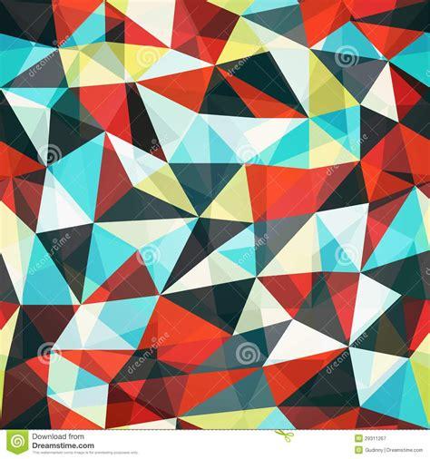 triangle retro pattern retro mosaic triangle seamless pattern royalty free stock