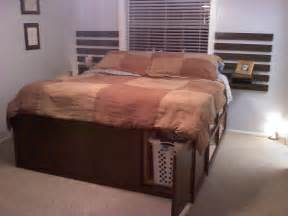 Diy King Bed Frame With Storage Diy King Size Platform Bed With Storage
