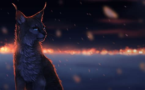 wallpaper cat drawn wild cat during a snowfall drawing wallpapers and images