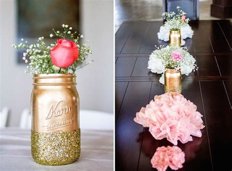 and gold baby shower decorations kara s ideas pink glitter gold baby shower via