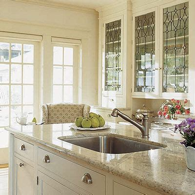 Leaded Glass Cabinets Traditional Kitchen Glass Door Cabinets Kitchen