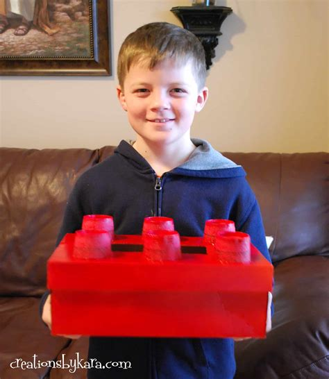 boy box decorating ideas lego box for boys classroom valentines