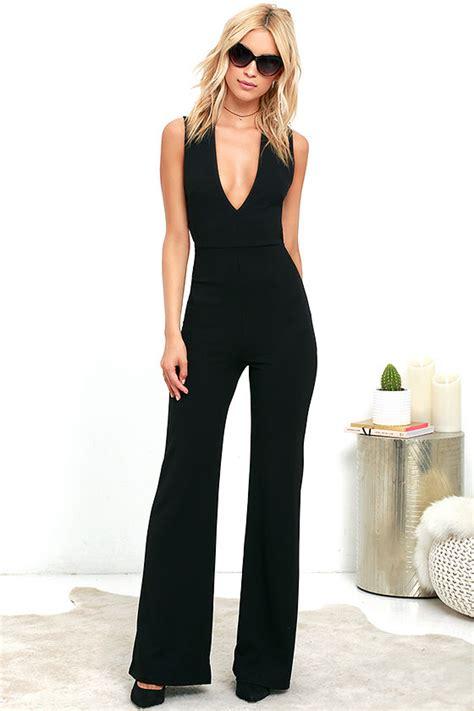 Backless Jumpsuit Size L chic black jumpsuit backless jumpsuit sleeveless