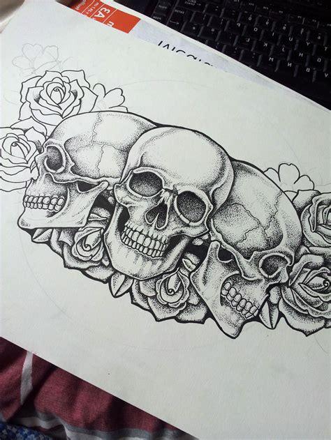 chest skull tattoos cool tattoos bonbaden