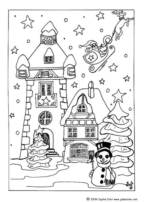 snow village coloring page snow covered house coloring pages hellokids com