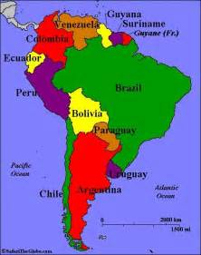 map of america with countries and capitals 15 best south american countries images on