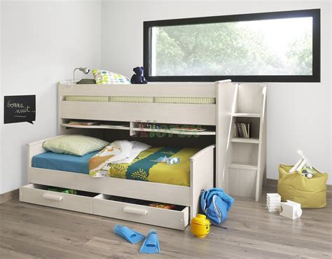 Pull Out Bunk Bed by Cabin Bed Gami Montana Cabin Bed W Slide Out Bed In White