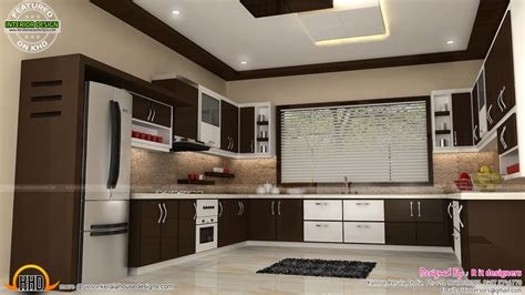 house kitchen interior design kerala home design and floor plans interiors of bedrooms