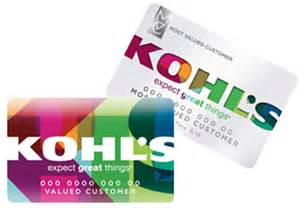 Kohl s charge card application