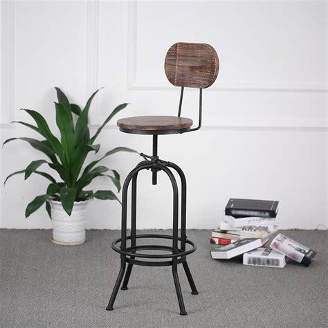 wood ikayaa bar stool height adjustable swivel kitchen