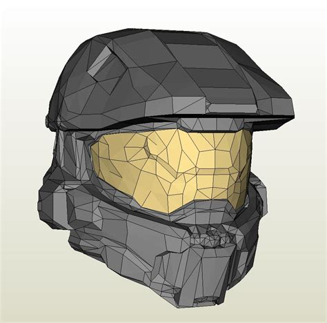 Halo Helmet Papercraft - papercraft pdo file template for halo 4 masterchief