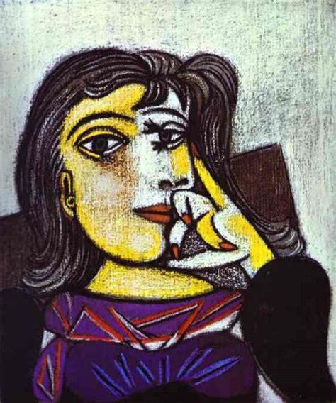 dora maar in an armchair portrait of dora maar 1937 by pablo picasso