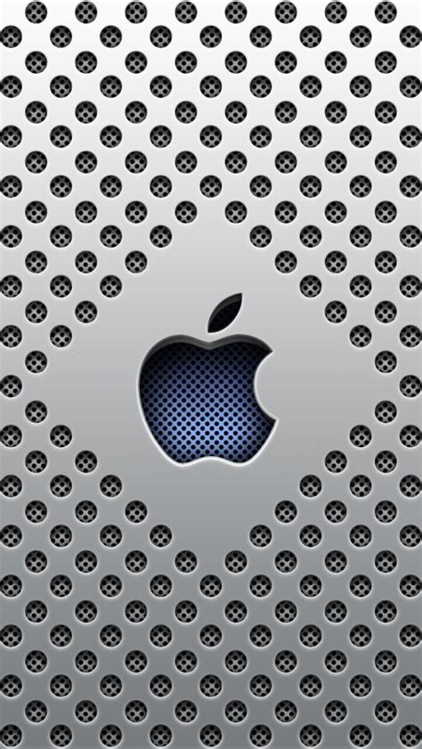 wallpaper for iphone 5 silver silver dots apple logo iphone 5 wallpaper iphone