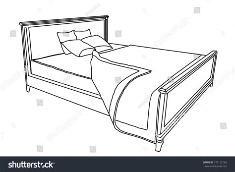 bed vector bed vector icon with bedspread isolated on white background hotel hostel bed