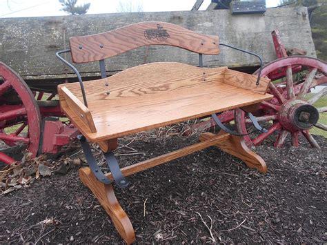 buckboard bench wood kits park benches handcars buckboard benches