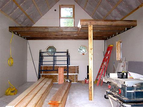 building a loft in garage caleb s small clog guest house
