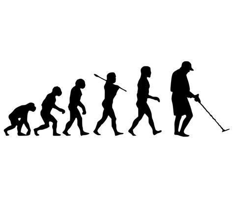 Evolution Of Metal Detecting Size L metal detector evolution sticker vinyl metal detecting decal pinpointer scoop ebay