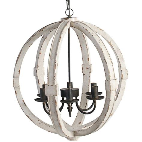 Distressed Wood Sphere Indoor Outdoor Chandelier Shades White Wooden Chandelier