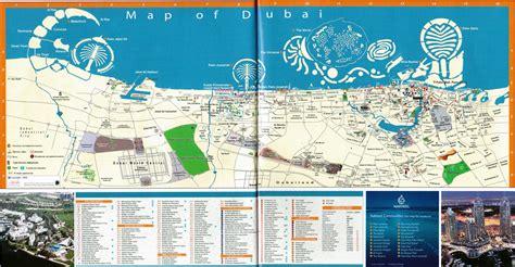 printable dubai road map maps update 28001696 dubai tourist attractions map