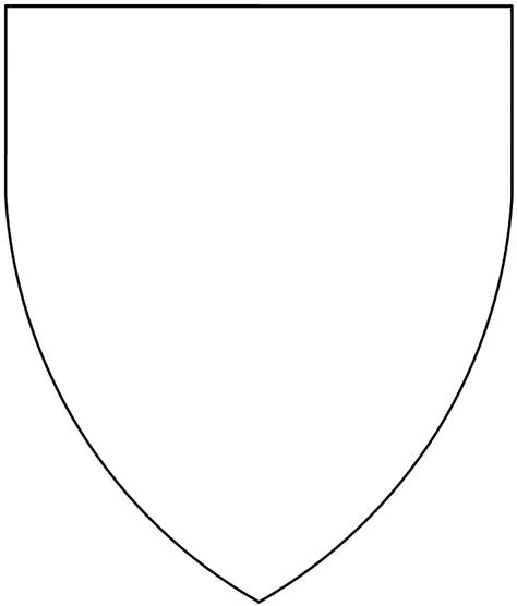 blank shield template printable blank shield template printable pictures to pin on