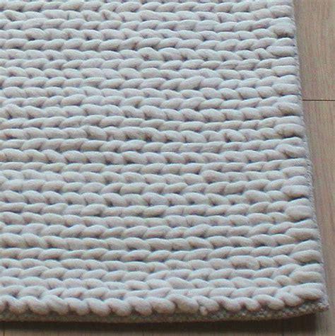Wool Rope Rug by Chunky Rope Wool Rug Knitting
