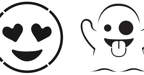 printable pumpkin stencils emoji free emoji pumpkin templates popsugar tech