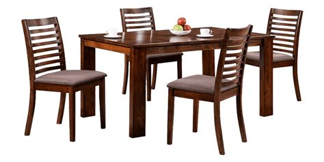 Transitional Dining Room Sets 4 seater dining set with slatted chair back