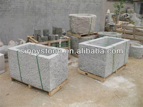 garten waschbecken stein garten stein granit wassertrog waschbecken