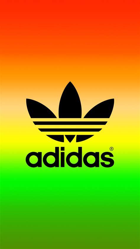 Adidas Colour Logo Blue Turkis adidas logo rasta color iphone wallpaper jes adidas logo and wallpaper