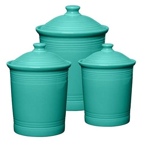 turquoise canisters for the home